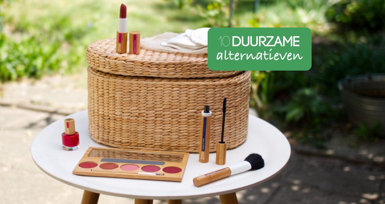 10 duurzame alternatieven voor cosmetica